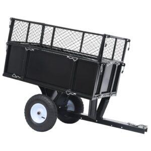 Reboque basculante para trator de relvado 150 kg de carga - PORTES GRÁTIS