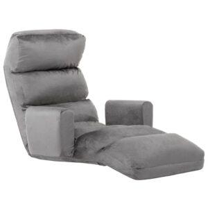Sofá-cama sem pés e com apoio de braços tecido cinzento - PORTES GRÁTIS