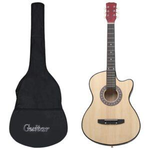 12 pcs conjunto de guitarra acústica cutaway com 6 cordas 38