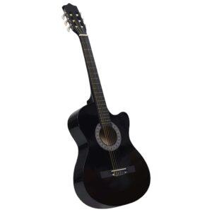 Guitarra acústica cutaway com 6 cordas 38