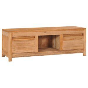 Móvel de TV 100x30x35 cm madeira de teca maciça - PORTES GRÁTIS