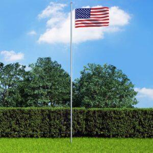 Bandeira dos EUA com mastro de alumínio 6,2 m - PORTES GRÁTIS