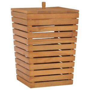 Cesto para roupa suja 30x30x45 cm madeira de teca maciça  - PORTES GRÁTIS