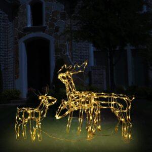 3 pcs iluminação de Natal renas 229 luzes LED - PORTES GRÁTIS