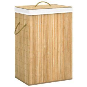 Cesto para roupa suja 72 L bambu - PORTES GRÁTIS