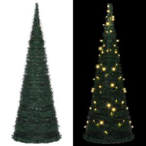 Árvore Natal pop-up artificial + cordão luzes LED 180 cm verde - PORTES GRÁTIS