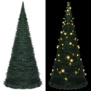 Árvore Natal pop-up artificial + cordão luzes LED 210 cm verde - PORTES GRÁTIS