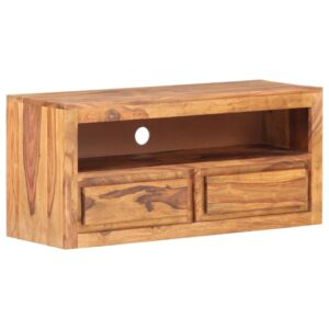 Móvel de TV 90x30x40 cm madeira de sheesham maciça - PORTES GRÁTIS