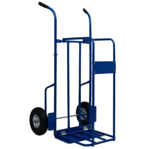 Carro Para Transporte de LENHA  63x70,5x119,5 cm 120 kg aço azul - PORTES GRÁTIS