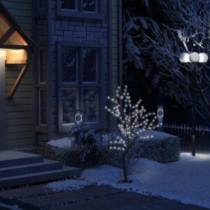Árvore de Natal 128 LED flor cerejeira luz branco frio 120 cm - PORTES GRÁTIS