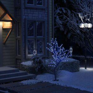 Árvore de Natal 128 luzes LED flor cerejeira luz azul 120 cm - PORTES GRÁTIS