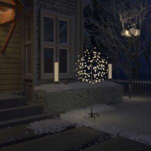 Árvore de Natal 120 LED flor cerejeira luz branco quente 150 cm - PORTES GRÁTIS