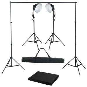 Kit de estúdio fotográfico com iluminação e fundo - PORTES GRÁTIS