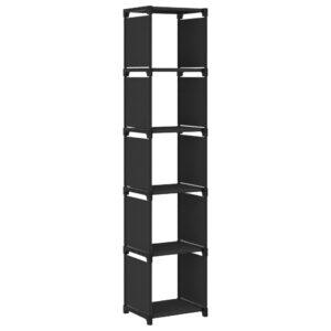 Estante de prateleiras 5 cubos 103x30x72,5 cm tecido preto - PORTES GRÁTIS