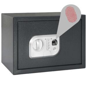 Cofre digital com impressão digital cinzento-escuro 35x25x25 cm - PORTES GRÁTIS