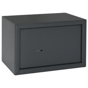 Cofre mecânico 31x20x20 cm aço cinzento-escuro   - PORTES GRÁTIS