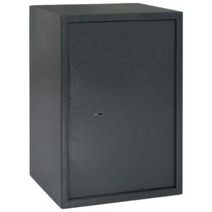Cofre mecânico 35x31x50 cm aço cinzento-escuro  - PORTES GRÁTIS