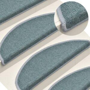 Tapete/carpete para degraus 15 pcs 65x24x4 cm azul - PORTES GRÁTIS