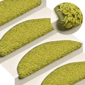Tapete/carpete para degraus 15 pcs 56x17x3 cm verde - PORTES GRÁTIS