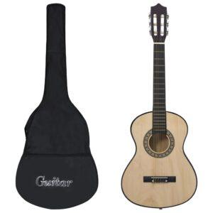 Guitarra clássica iniciantes/crianças c/ saco 1/2 34