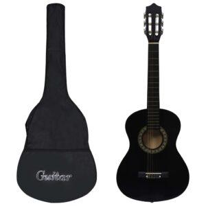 Guitarra clássica iniciantes/crianças com saco 1/2 34
