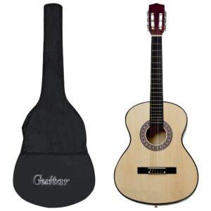Guitarra clássica para iniciantes com saco 3/4 36