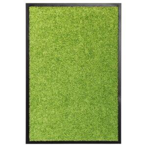 Tapete de porta lavável 40x60 cm verde - PORTES GRÁTIS