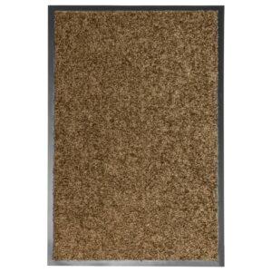 Tapete de porta lavável 40x60 cm castanho - PORTES GRÁTIS