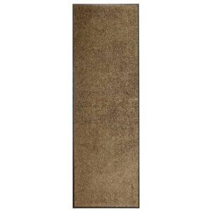 Tapete de porta lavável 60x180 cm castanho - PORTES GRÁTIS