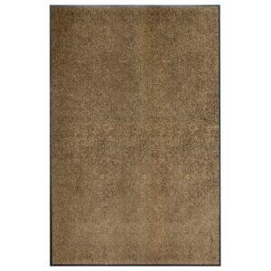 Tapete de porta lavável 120x180 cm castanho - PORTES GRÁTIS