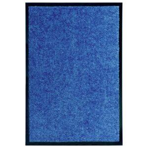 Tapete de porta lavável 40x60 cm azul - PORTES GRÁTIS