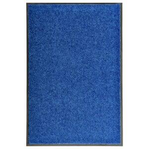 Tapete de porta lavável 60x90 cm azul - PORTES GRÁTIS