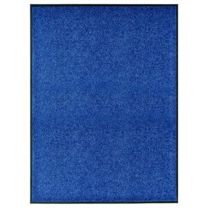 Tapete de porta lavável 90x120 cm azul - PORTES GRÁTIS
