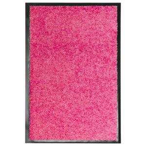 Tapete de porta lavável 40x60 cm rosa - PORTES GRÁTIS