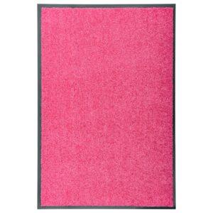 Tapete de porta lavável 60x90 cm rosa - PORTES GRÁTIS