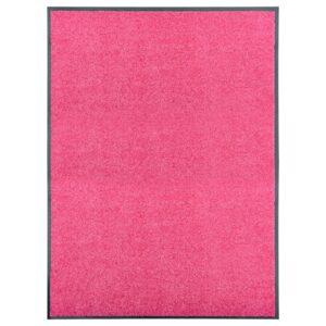 Tapete de porta lavável 90x120 cm rosa - PORTES GRÁTIS