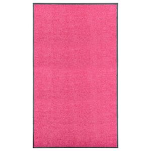 Tapete de porta lavável 90x150 cm rosa - PORTES GRÁTIS