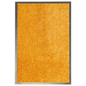 Tapete de porta lavável 40x60 cm laranja - PORTES GRÁTIS