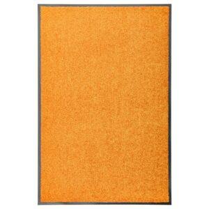 Tapete de porta lavável 60x90 cm laranja - PORTES GRÁTIS