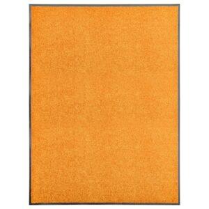 Tapete de porta lavável 90x120 cm laranja - PORTES GRÁTIS
