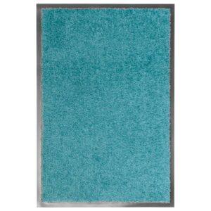 Tapete de porta lavável 40x60 cm azul ciano - PORTES GRÁTIS