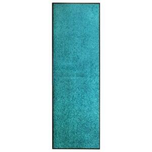 Tapete de porta lavável 60x180 cm azul ciano - PORTES GRÁTIS