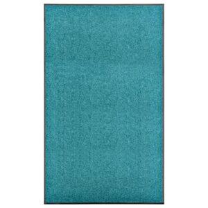 Tapete de porta lavável 90x150 cm azul ciano - PORTES GRÁTIS
