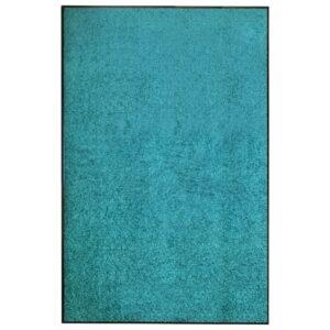 Tapete de porta lavável 120x180 cm azul ciano - PORTES GRÁTIS