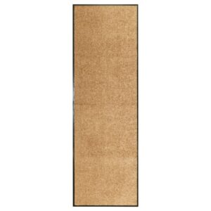 Tapete de porta lavável 60x180 cm creme - PORTES GRÁTIS