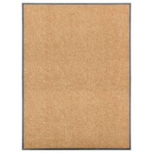 Tapete de porta lavável 90x120 cm creme - PORTES GRÁTIS