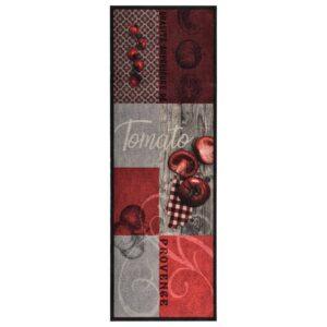 Tapete de cozinha lavável com design tomates 45x150 cm - PORTES GRÁTIS