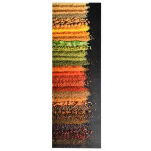 Tapete de cozinha lavável com design de especiarias 60x180 cm - PORTES GRÁTIS