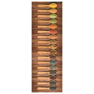 Tapete de cozinha lavável com design de colheres 60x180 cm - PORTES GRÁTIS