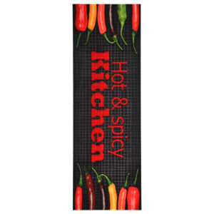 Tapete de cozinha lavável com design Hot&Spicy 45x150 cm - PORTES GRÁTIS